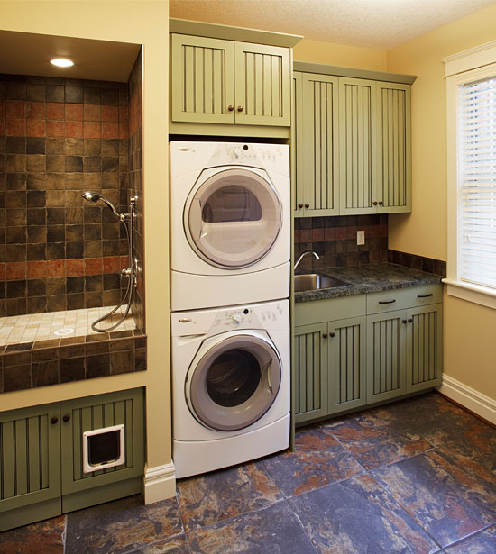 Traditional laundry room design