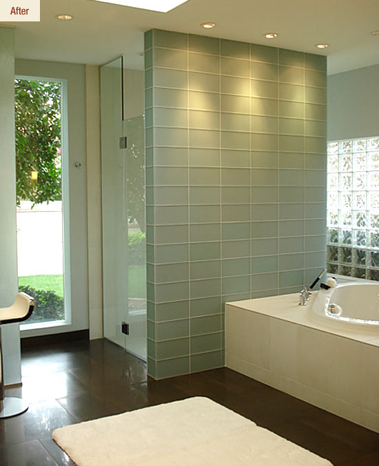 Contemporary Style & Natural Light for a Master Bath That ...