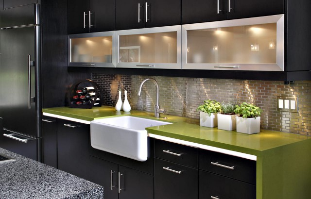 Contemporary Kitchen Before & After: A Study in Green