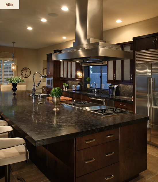 chef's dream: a transitional kitchen before & after - affinity