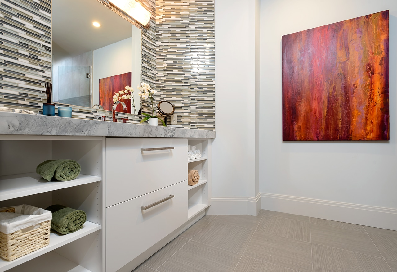 Contemporary Powder Room Cabinets